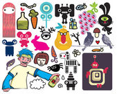 Mix of different vector images and icons. vol.20 — Stock Vector