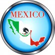Mexico Round Button - Stock Vector