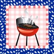 Stock Vector: July 4th BBQ Background
