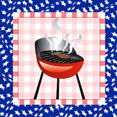July 4th BBQ Background — Stock Vector