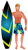 Surfer Guy — Stock Vector