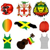 Jamaican Icons — Stock Vector
