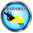 Bahamas Round Button — Stock Vector