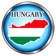 Hungary Round Button — Stock Vector