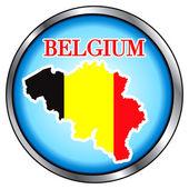 België ronde knop — Stockvector