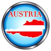 Austria Round Button — Stock vektor