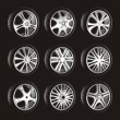 Automotive wheel - Vettoriali Stock