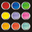 Color button — Stock Vector