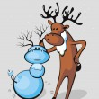 Royalty-Free Stock Vector Image: Santa\'s reindeer
