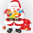 Santa Claus with children gifts — Stock Vector #5859260