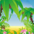 Royalty-Free Stock Vector Image: Tropical paradise