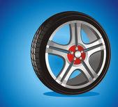 автомобильные колеса — Cтоковый вектор
