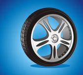 Automotive hjul — Stockvektor