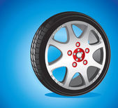Automotive wheel — Vettoriale Stock
