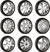 Automotive wheel — Stockvector