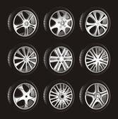 Automotive wheel — Stock Vector
