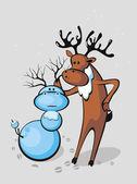 Santa's reindeer — Stock Vector