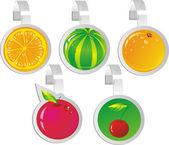 Wobbler de fruta — Vector de stock