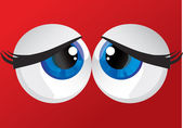 Bulging eyes — Stock Vector