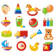 Stock Vector: Set of pictures for kindergarten