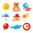 Royalty-Free Stock Vector Image: Set of child\'s pictures for a kindergarten