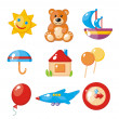 Set of child's pictures for a kindergarten - Stock Vector