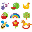 Set of child's pictures for a kindergarten — Stock Vector #6126613