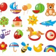 Set of colorful children's pictures for kindergarten - Stock Vector