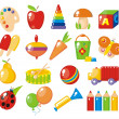 Stock Vector: Colorful toys for children