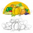 Royalty-Free Stock Vector Image: Harvest vegetables