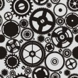 SEAMLESS pattern of gears  — Stock Vector