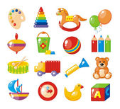Set of pictures for a kindergarten — Vector de stock