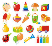 Colorful toys for children — Stock Vector