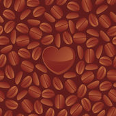 Seamless texture with coffee beans — Stock Vector