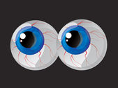 Hypertrophied, huge balls bulging eyes — Stock Vector