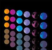 Color button — Stock Vector