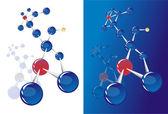 приблизительное абстрактных молекулярные структуры — Cтоковый вектор