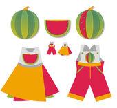 Homemade children's pockets — Stock Vector