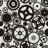 SEAMLESS pattern of gears — Stok Vektör