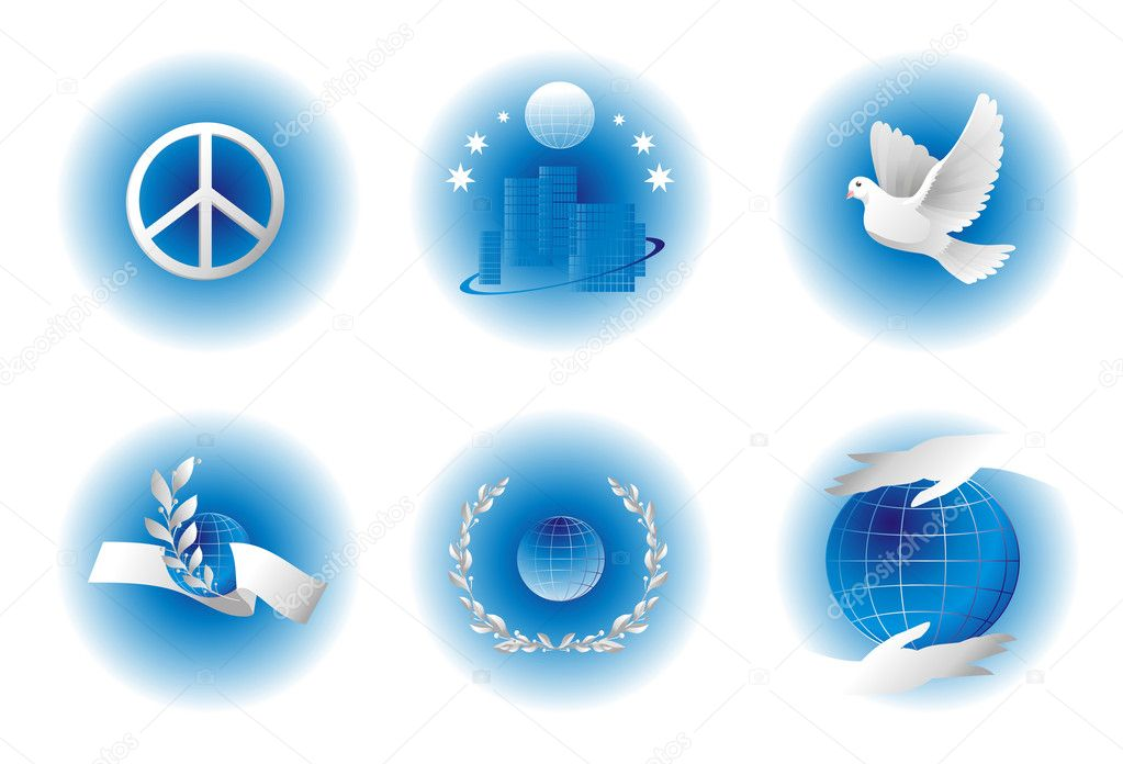 Peace simbols.  — Stock Vector #6126869