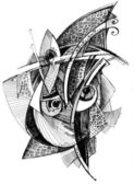 Abstract unusual pencil drawing — Stock Photo