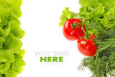 Fresh vegetable isolated on white background — Stock Photo
