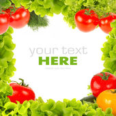Fresh vegetable frame — Stock Photo
