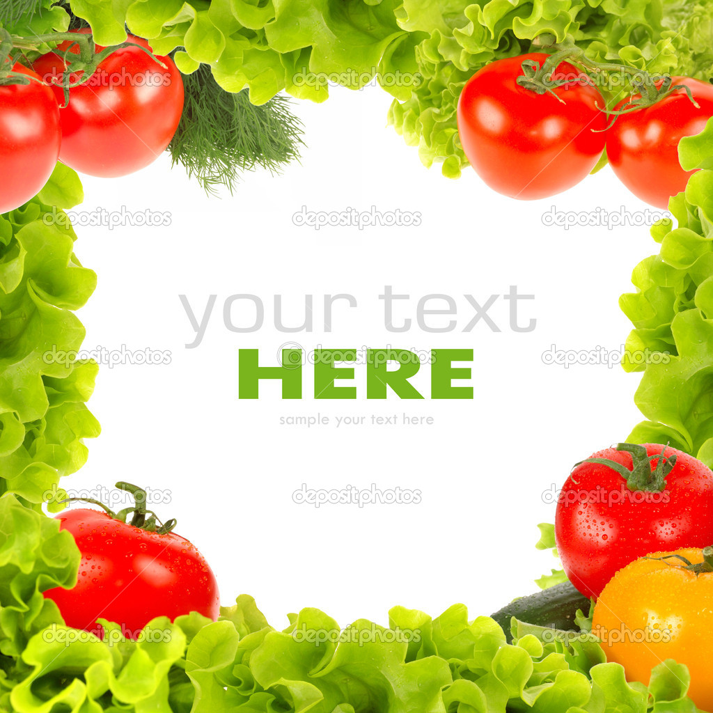 Fresh vegetable frame — Stock Photo #5831446
