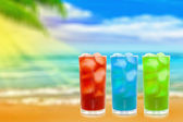 Сocktail on a beach — Stock Photo