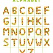 Fruit alphabet — Stock Photo