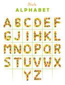 Fruit alphabet — Stock Photo