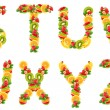 Stock Photo: Letters are from fruit