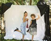 Little girls dress-up — Stock Photo