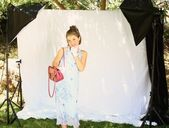 Little girl dress-up — Stock Photo